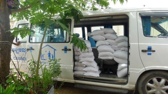 Rice distribution